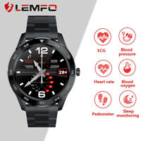 LEMFO DT98 Men Smart Watch ECG Heart Rate Blood Oxygen Pressure For Android iOS