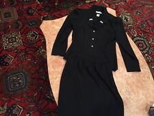 LESLIE FAY PETITES BLAZER & SKIRT SET Size 6 With Stone Buttons
