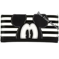 Disney Parks Boutique Mickey Mouse Pie-Eyed Striped Tri-Fold Clutch Wallet (NEW)