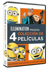 PACK GRU 1 2 3 + LOS MINIONS DVD 4 PELICULAS NUEVO ( SIN ABRIR ) MI VILLANO