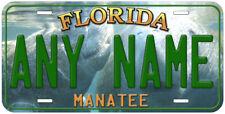 Manatee Florida Personalized Aluminum Novelty Car License Plate