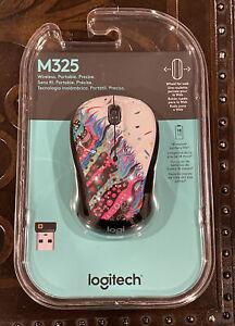 Logitech M325 Wireless Optical Mouse Ambidextrous Celebration Black w/ Receiver