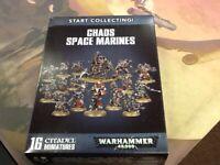 Chaos Space Marine Start Collecting 40K Warhammer NIB