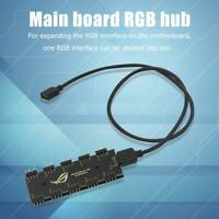 10 RGB Synchronization HUB Splitter Extension Cable for Motherboard RGB Fan