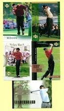 2001 UD TIGER WOODS RC LOT x5 #1 RC LEADERBOARD VICTORY MARCH TOUR TIME MOMENTS