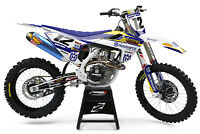 Custom MX Graphics Kit: HUSQVARNA TC 65 2017 - 2020 ROCKSTAR GP BLUE