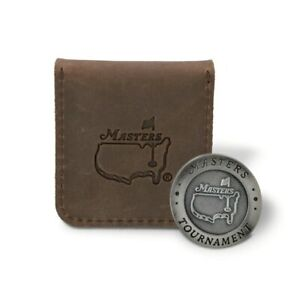 2021 Masters Augusta National Leather Pouch Ball Marker Golf Tiger Woods 🔥 ⛳️