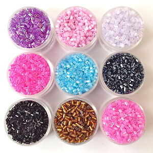 Short BUGLE SEED BEADS  3mm  40 grams 100 grams 10 colour to choose