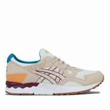 Men's Asics GEL-LYTE V Lace up Cushioned Trainers in Cream