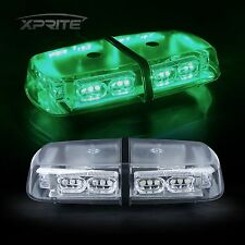 GREEN Oval Light Bar Roof Top Emergency Hazard Flash Magnetic Strobe 36 LED 12V