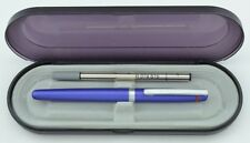 Roytring  Rollerball Pen Blue Metal & Silver New In Box Uses Montblanc Refill