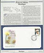 MUSTIQUE PRINCESS DIANA MEMORIAL First Day Cover