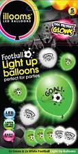 """Il CALCIO """"Gol!"""" Light Up PALLONCINI-una confezione di 5 x 9 pollici LED ILLOOM numeri di riferimento"""