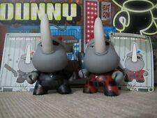 """◆Kidrobot 2013 POST APOCALYPSE DUNNY 3"""" Xam Dam Hicks RED+BLACK Kaneda HUCK GEE◆"""