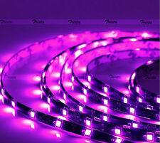 DIY Waterproof Blue 5M 300 Leds 60//M 5050 SMD LED Flexible Strip Light Black #YO