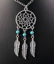 Silver Dream-Catcher Pendant Necklace/Chain w/Free Jewelry Box and Shipping