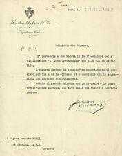 Ministero della Casa del Re Ringraziamenti di Re Vittorio Emanuele III 1927