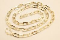 925 Sterling Silver Flat Cable Link Choker Chain Necklace. 9 grams,39 cm/15.4""