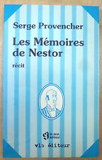 LES MÉMOIRES DE NESTOR personnage dans TINTIN de HERGÉ (auteur Serge Provencher)