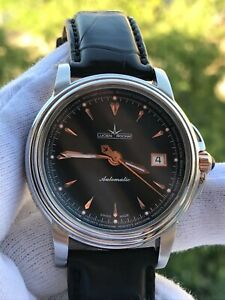 LUCIEN ROCHAT AUTOMATIC DATE GOLD & STEEL MENS 40.5mm SWISS MADE
