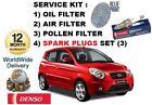para Kia Picanto 1.0 12v 3/2011> Kit de mantenimiento Filtro polen aire ACEITE +