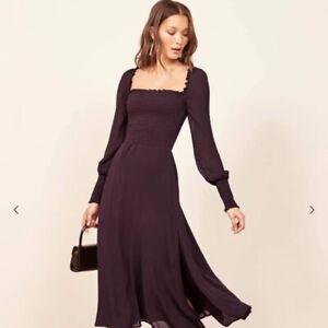Smocked Puff Sleeve Dress (Black)
