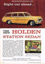1962 EJ HOLDEN STATION WAGON A3 POSTER AD SALES BROCHURE ADVERTISEMENT ADVERT