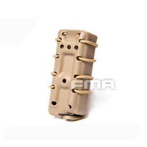 FMA Tactical Mag Pouch Rifle Mag Carrier For 9mm MOLLE Fastmag Wargame Gear Army