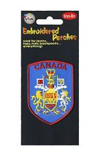 CANADA COAT Of ARMS Blue With Red Border Embroidered Iron-On PATCH CREST BADGE