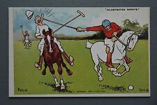 R&L Postcard: Chimera Arts Sporting Tom Browne Repro, Horse, Polo