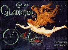 Vintage Gladiador ciclos A2 cartel Impresión De Publicidad