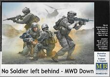"1:35 Master Box 35181 - ""No Soldier left behind"" -  4 Figure Set Plus a Dog"