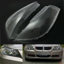 Coppia copriobiettivo faro coperture per BMW E90 Sedan E91 Touring 2005-2008