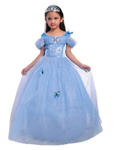 Kids Girls Princess Cinderella Fancy Dress Up Cosplay Costume Party Outfit Gifts