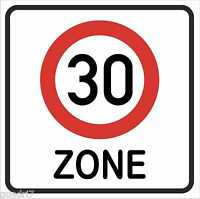"""wetterfestes Verkehrsschild """"Zone 30"""" Geburtstagsschild, Verkehrszeichen 40x40cm"""