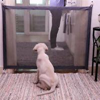 Magic Dog Gate Pet Safety Guard Portable Folding Safe Net for Dog Baby-Enclos md