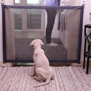 Magic Dog Gate Pet Safety Guard Portable Folding Safe Net for Dog Baby-Enclos*AU