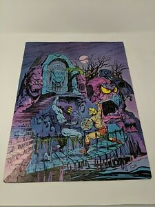 1984 Masters of the Universe Snake Mountain 100 Piece Golden Puzzle Complete!