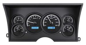 Dakota Digital 88-94 Chevy Truck Direct Fit Gauges Black/ Blue VHX-88C-PU-K-B