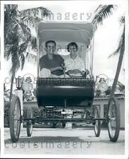 1959 Couple Enjoys Ride Vintage Merry Olds Auto Ft Lauderdale FL Press Photo