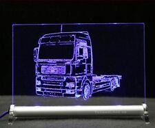 TGA Zugmaschine als Gravur auf LED Leuchtschilld MAN TRUCK