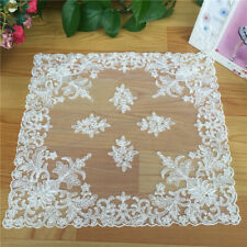 Lace Tablecloth Placemats Kitchen Pads Dining Table Coasters Lovely Design Mats