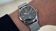 Vintage Omega Seamaster Watch, Black Dial, Orange Lume, 1950's, 35 mm