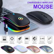 Rechargable Wireless Mouse Slim Ergonomics Design Silent Office Mouse 1600DPI