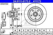 2 x ATE Bremsscheibe+Lager HA passend für Renault Laguna III - Nr. 24011101732