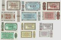 Lot 6 Stück Banknoten Warengutschein UNC DM 1958-73 Bethel P-NLB1-6 SEHR SELTEN