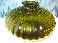 "LARGE GORGEOUS RIBBED ART GLASS CENTER PIECE, BOWL,VASE, 15 1/2 W  10"" H"