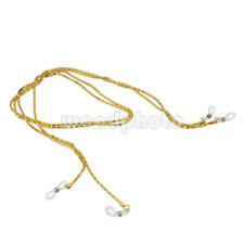 2x Dorado Metal Cadena Cuerda Correa De Gafas 66cm de Longitud para Gafas de Sol