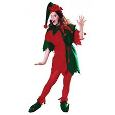 Elf Tunic Santa Claus Helper Costume Christmas Fancy Dress