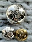 3 MILITARY BUTTONS. THE BLUES AND ROYALS ( ROYAL HORSE GUARDS & 1ST DRAGOONS)